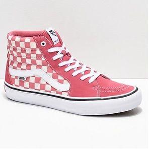 Vans Pro Desert Rose Checkerboard Skate Sneakers